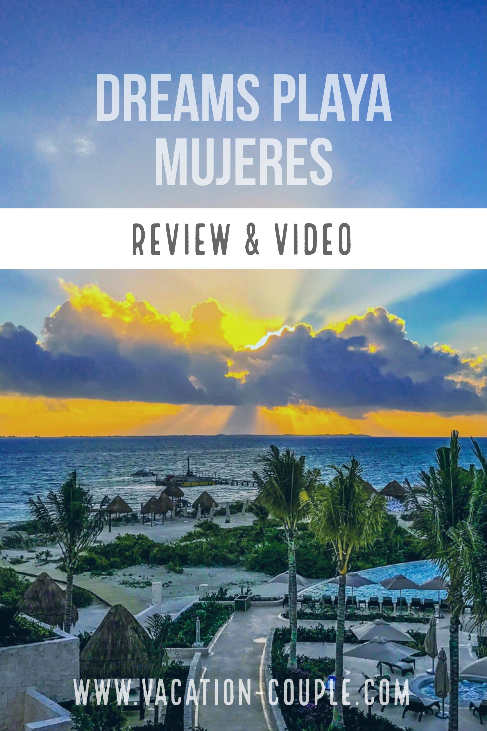 Vacation Couple reviews Dreams Playa Mujeres Resort & Spa. Kristin & Shadi review the layout, waterpark, restaurants, activities, and more! www.vacation-couple.com