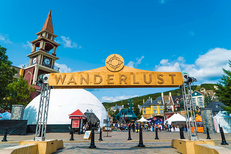Waderlust Festival Sign Mont Tremblant Village 2017