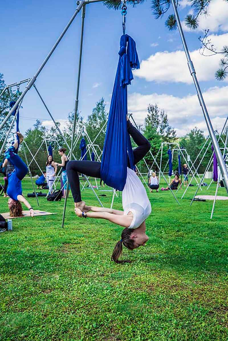 AlReal Yoga Wanderlust Festival Mont Tremblant Aerial Yoga VacationCouple