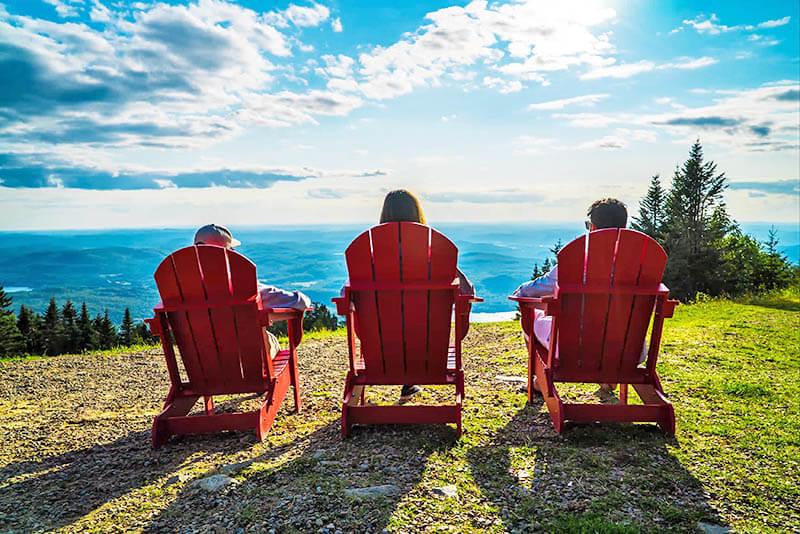 Wanderlust Festival Mont Tremblant Panoramic Gondola Adirondack Chairs