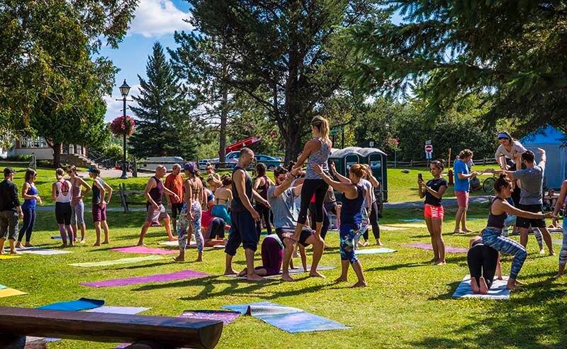 Wanderlust Festival Tremblant AcroYoga Yoga Mont Tremblant Village