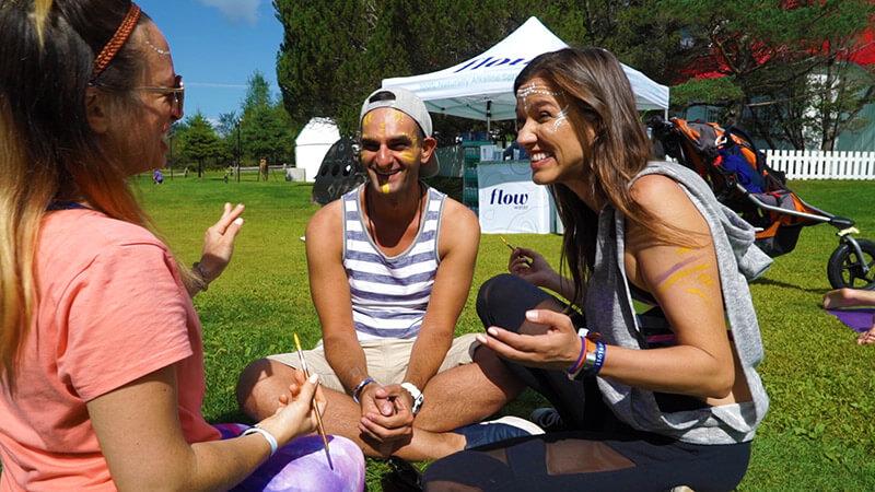 Wanderlust Festival Tremblant Body Art Face Painting Kristen Kristin Shadi