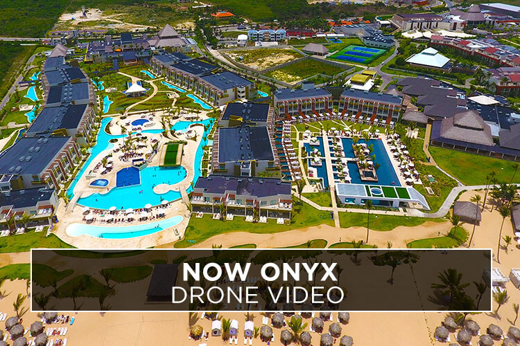 Now Onyx Punta Cana Drone Video Vacation Couple