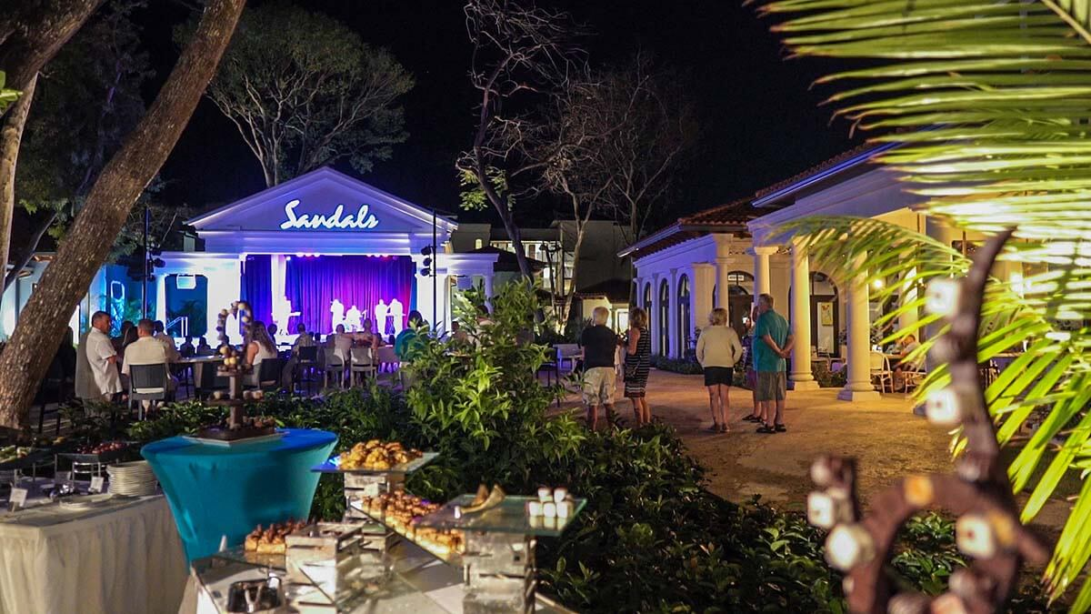 chocolate theme night stage sandals royal barbados