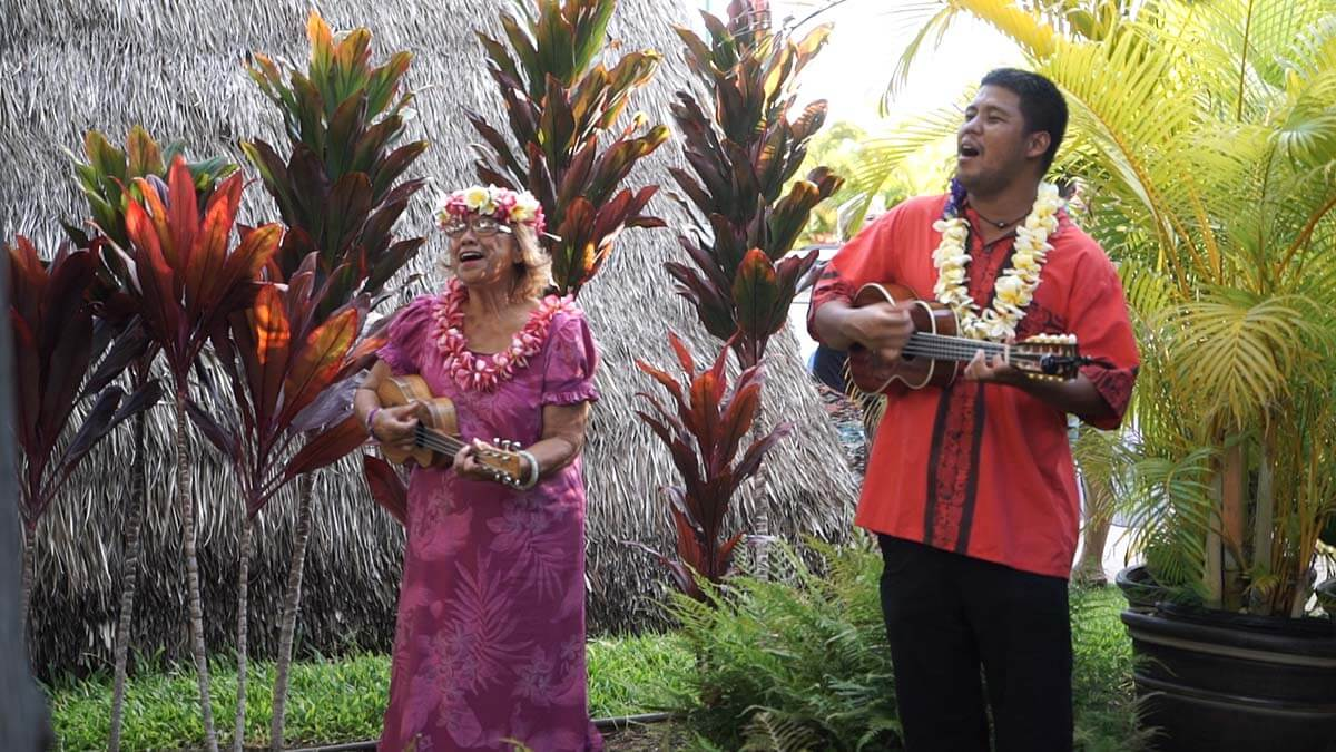 being greeted at the old lahaina luau Top things to do in Hawaii