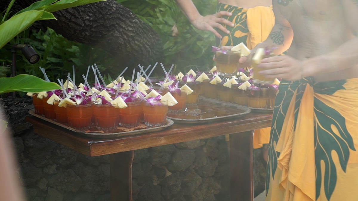 Drinking a mai tai at the old lahaina luau Top things to do in Hawaii