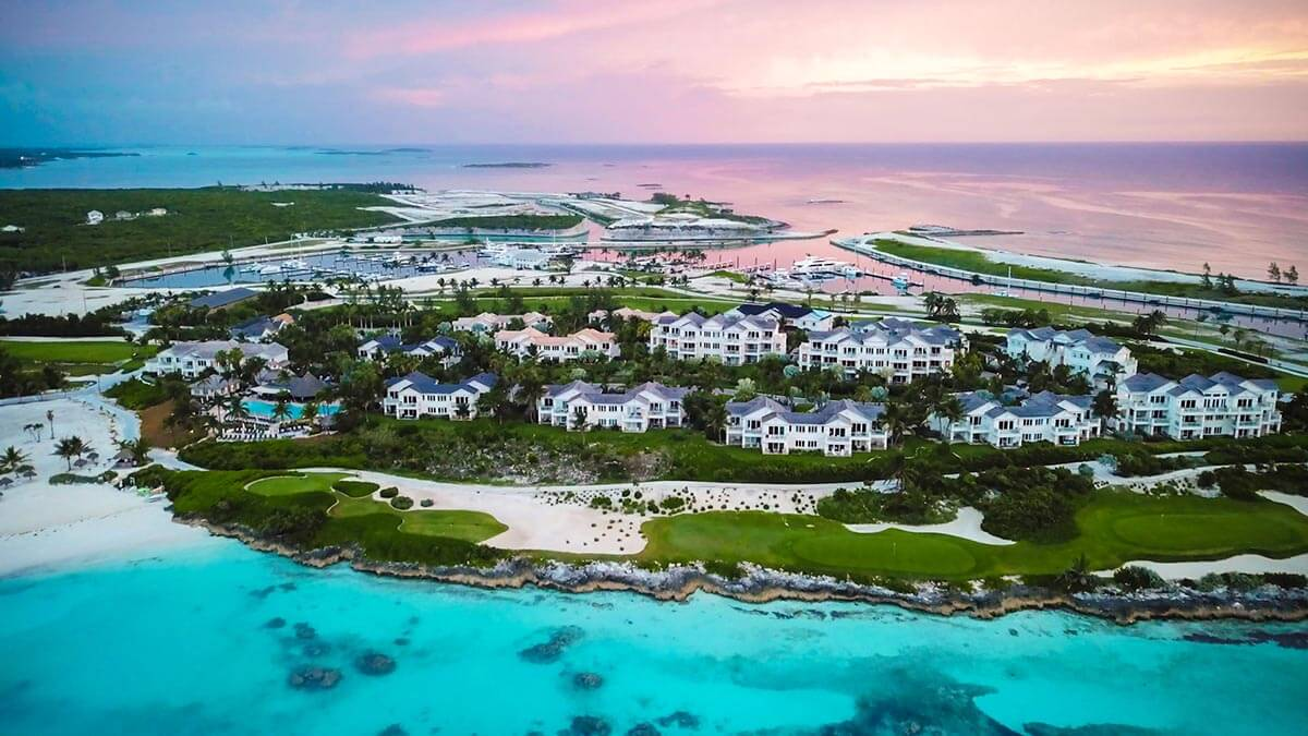 Grand isle Resort and spa drone view of property. A great things to do in exuma