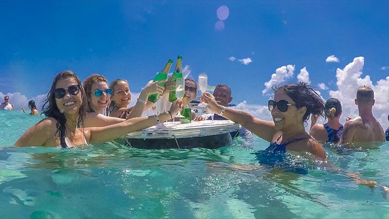 cheers to floating champagne bars things to do in puerto plata
