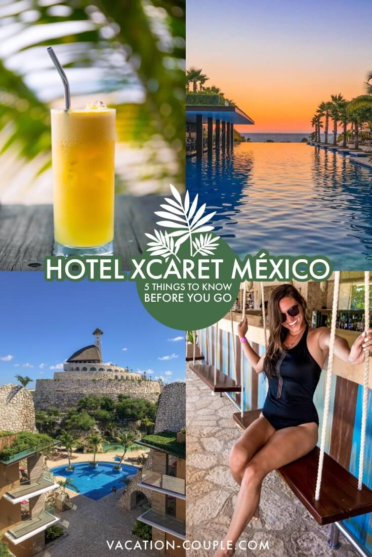 We're sharing all the secrets you need to know before visiting this amazing family resort, Hotel Xcaret Mexico! Also get the deets on the rivers, beaches, pools, restaurants and 9 parks. We wish we had known these tips before we visited! https://vacation-couple.com/hotel-xcaret-mexico-things-to-know-before-visiting/