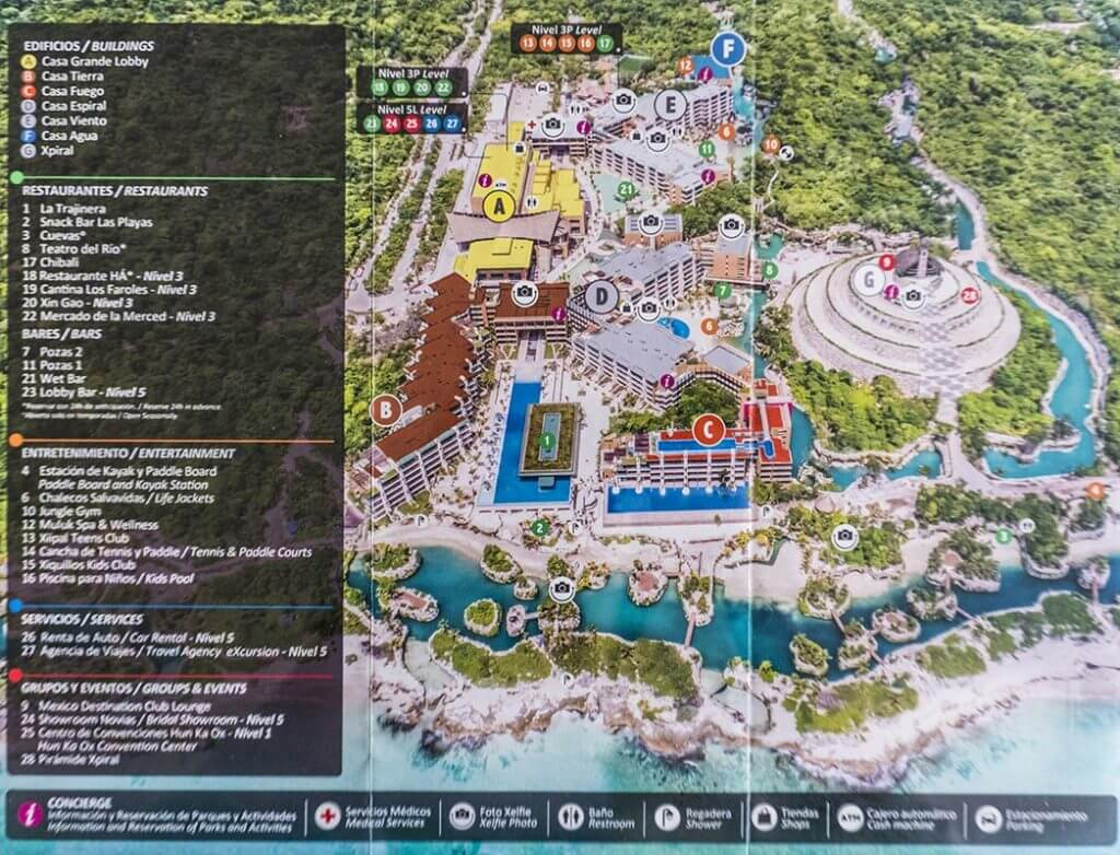 Hotel Xcaret Mexico Map