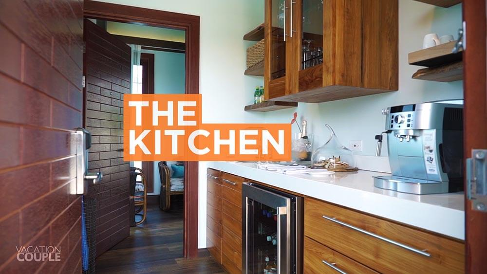 SANDALS SOUTH COAST OVERWATER BUNGALOW ROOM TOUR the kitchen