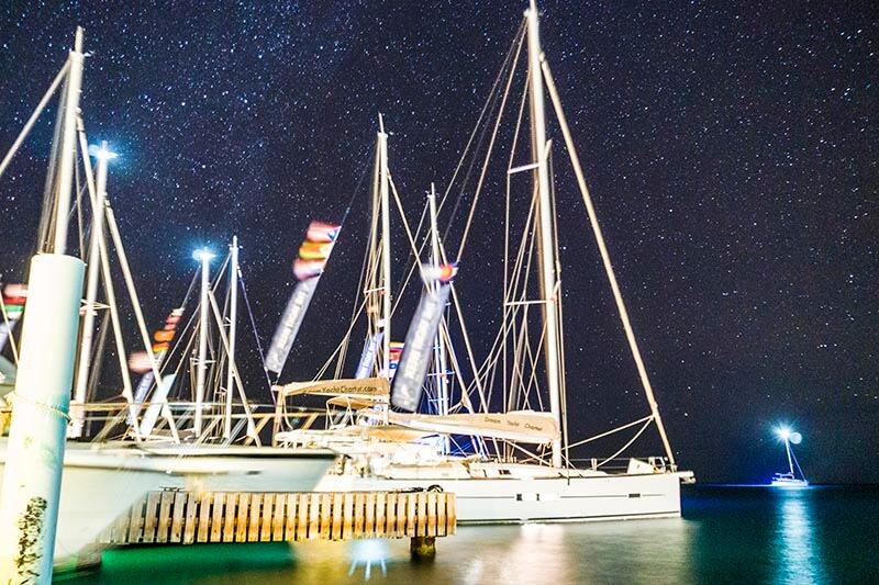 British Virgin Islands at night yacht week bvi