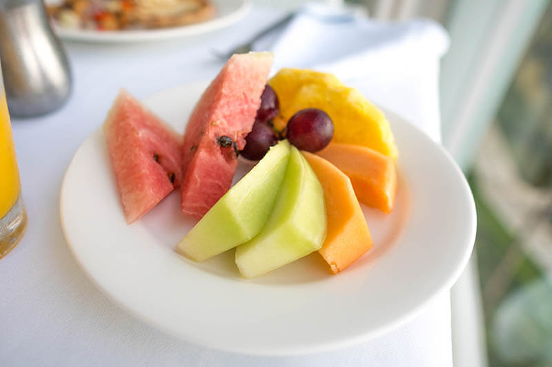 Sandals Regency La Toc Room Service Breakfast Fruit Plate