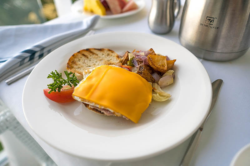 Sandals Regency La Toc Room Service Breakfast Sandwich