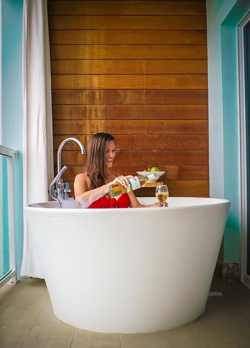 Sandals Regency La Toc Review Balcony Tranquility soaking tub saint lucia