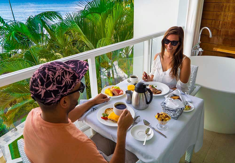 Sandals Regency La Toc Review Breakfast Room Service Butler by Vacation Couple RP1