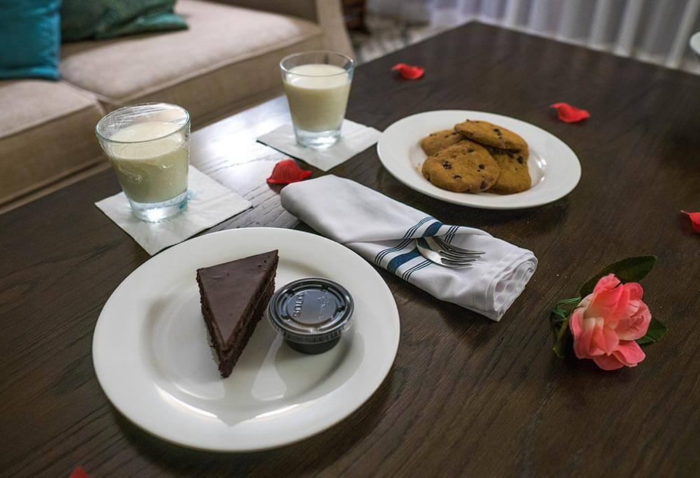 Sandals Regency La Toc Review Butler Elite Service Late Night Cookies and Milk and Chocolate Fudge Cake