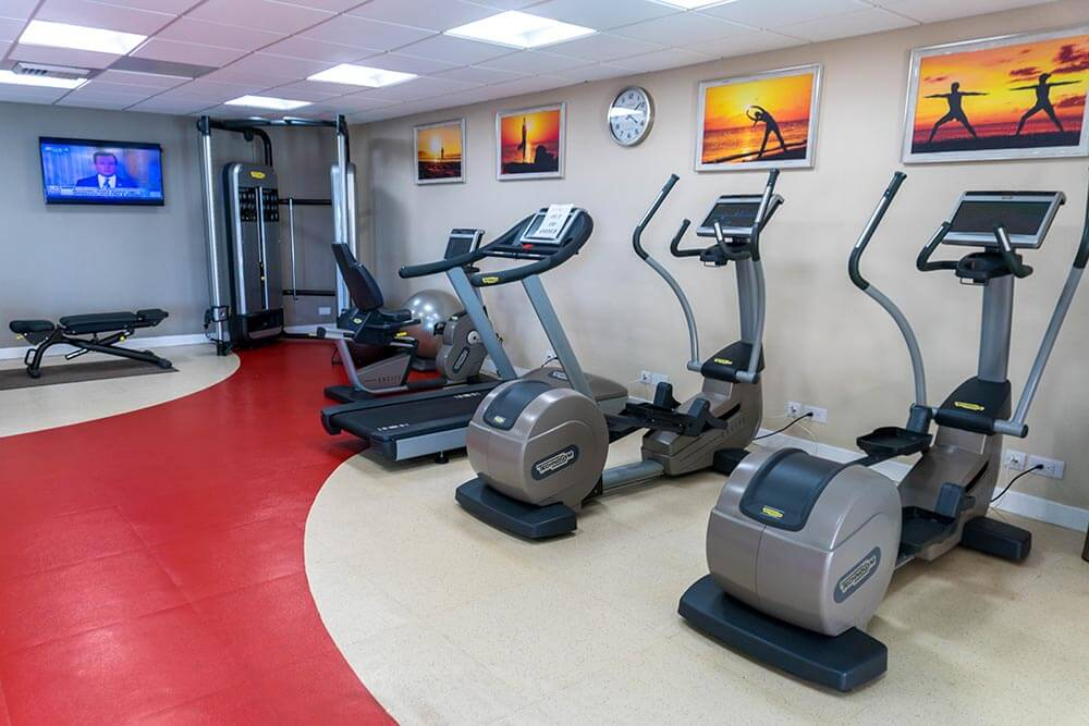 Sandals Regency La Toc Review Gym Equipment Treadmills by Vacation Couple