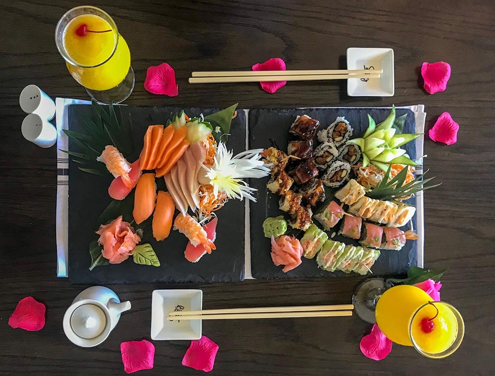 Sandals Regency La Toc Review Sushi from Soy Room Service Butler by Vacation Couple