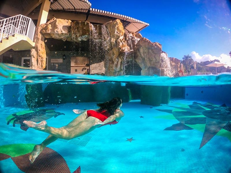 Sandals Regency La Toc Review Underwater Pool View GoPro by Vacation Couple in Saint Lucia