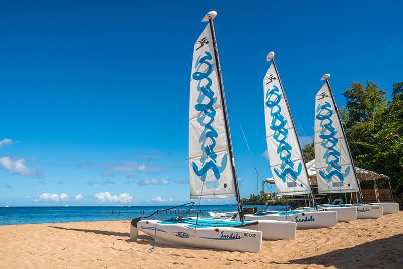 Sandals Regency La Toc Saint Lucia Hobie Cat on the Beach Saint Lucia