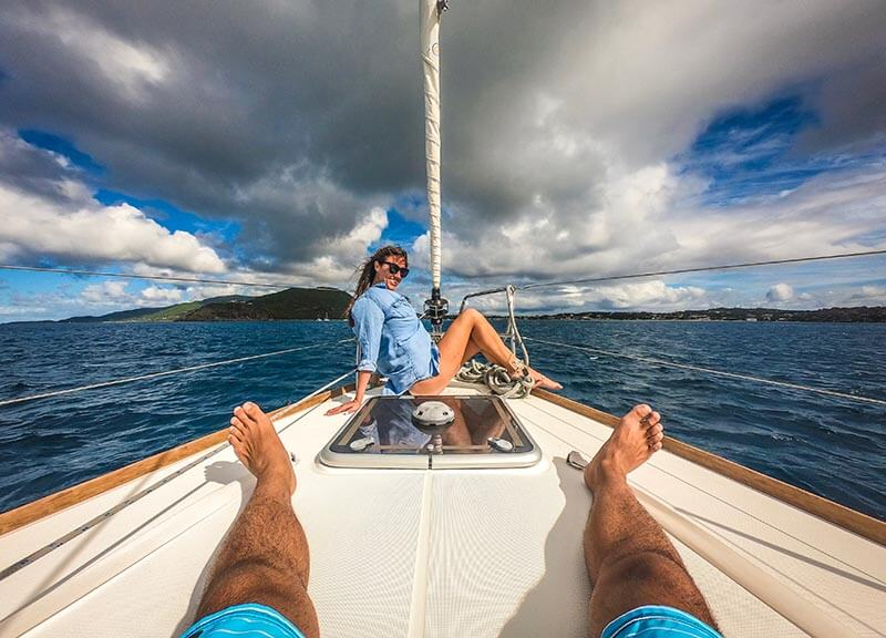 Vacation Couple Kristin and Shadi at the yacht week bvi #tyw2019