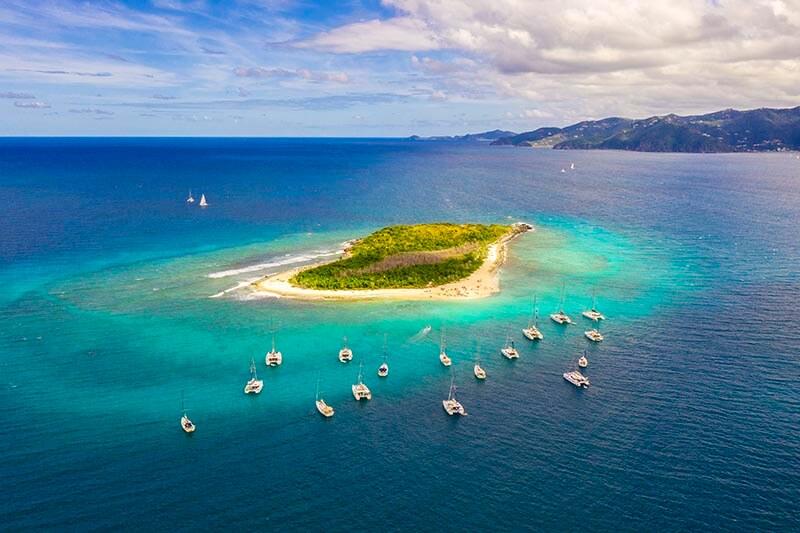 Yacht Week BVI Sandy Cay in the British Virgin Islands