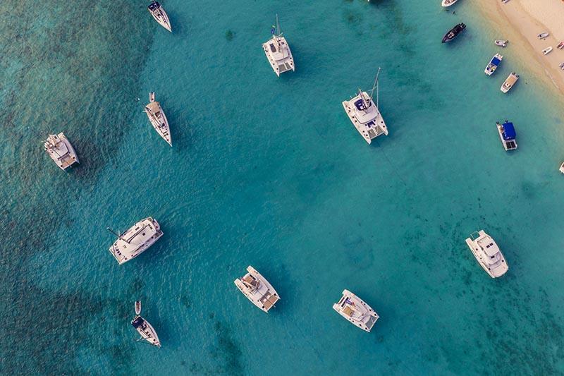 british virgin islands yacht week bvi drone view