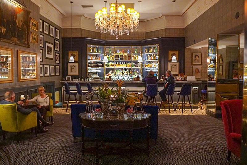 Ireland Road Trip Ireland one week road trip Fitzpatrick Castle Hotel Bar