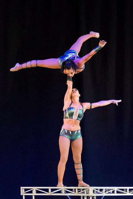 Acrobatics at the Ultimate Thrills Circus at Canadas Wonderland