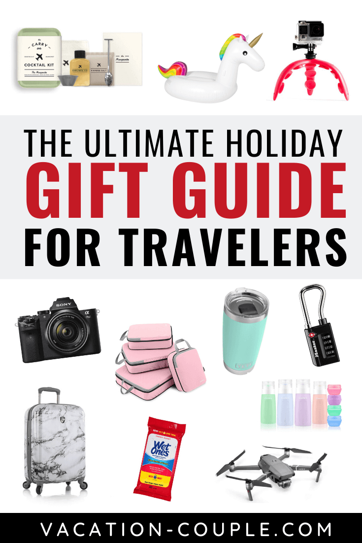 Wondering what the best gifts for someone going travelling are? We talk fun gifts, useful gifts, personalized gifts, travel gifts for the photographer! #giftguide #christmas #travelgifts #bestgifts