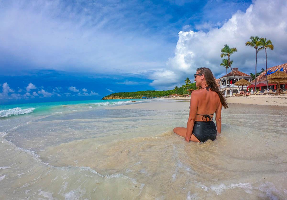 Tropical Destination Beach Wedding Sandals Antigua Resort